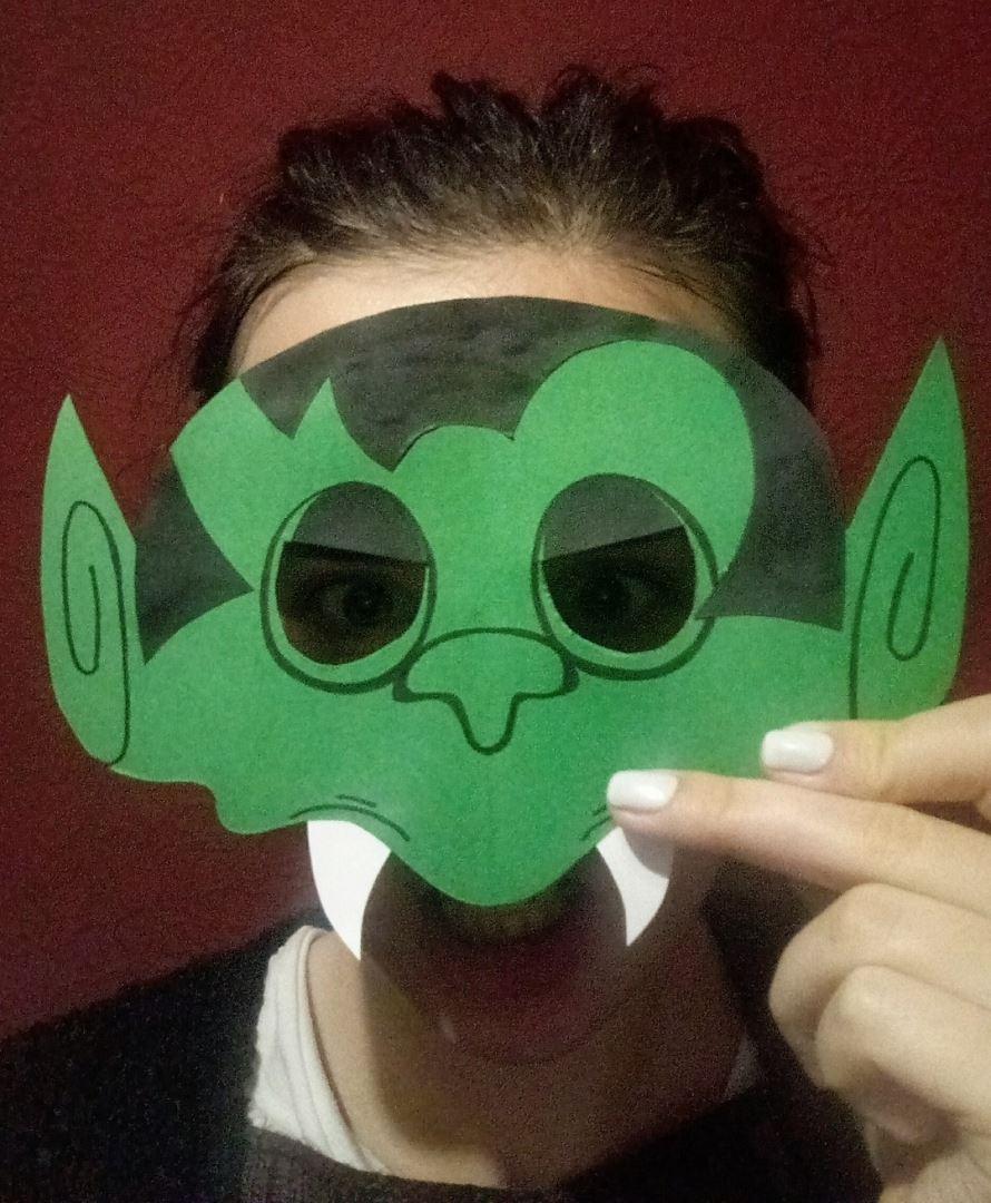 сделать маску тролля своими руками из бумаги