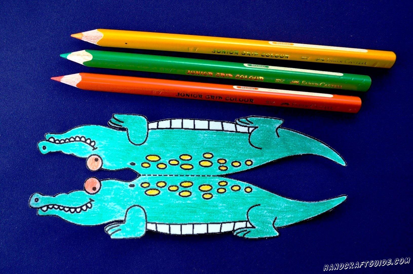 Теперь одно из любимых занятий детишек - разрисовываем крокодила