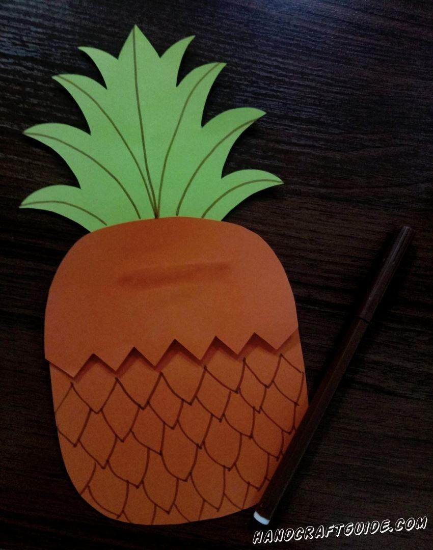 Разрисовываем ананас
