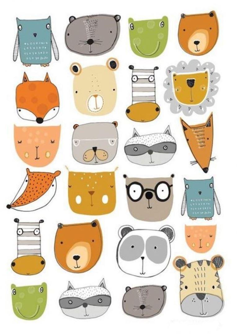 рисунки животные для начинающих