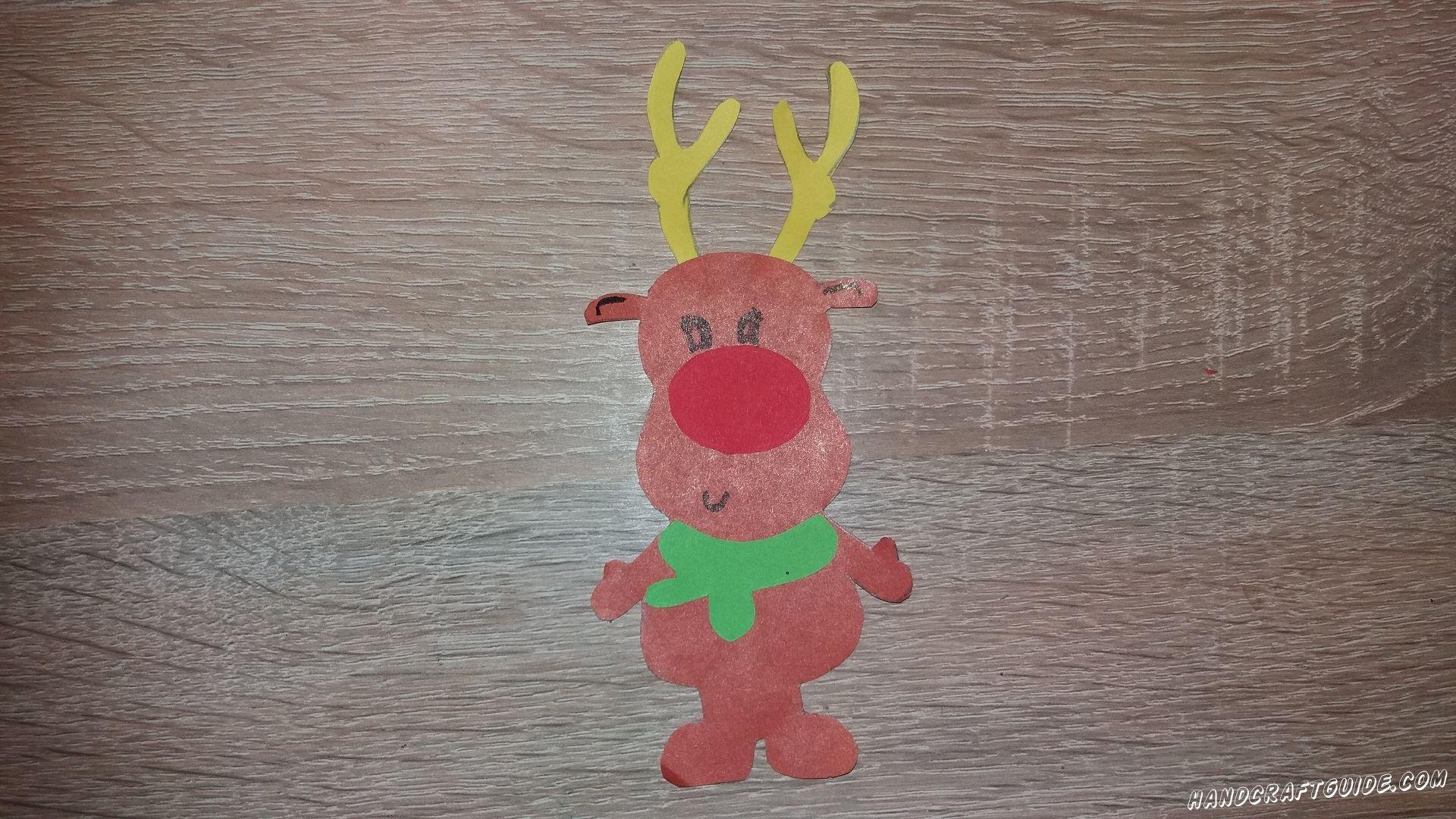Вот и готов наш волшебный праздничный оленёнок. А мы ждём Вас для выполнения новых поделок.  До новых встреч, друзья!