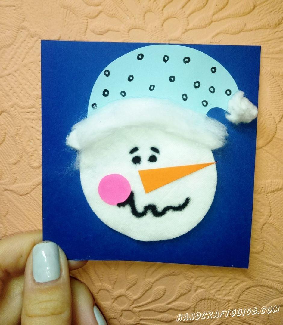 поделка портрет снеговика для детей