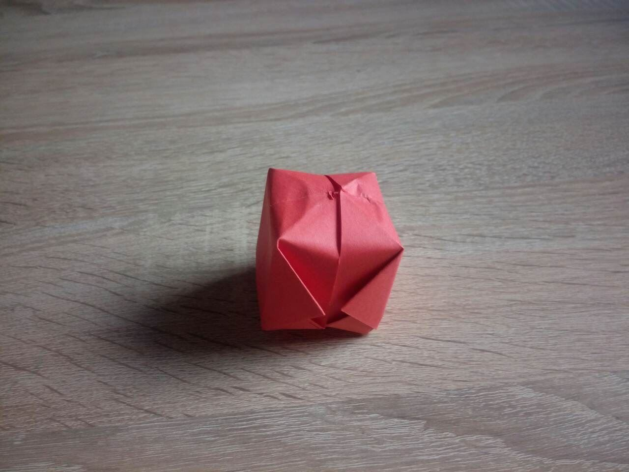 Получился вот такой бумажный кубик. До новых встреч, друзья:)