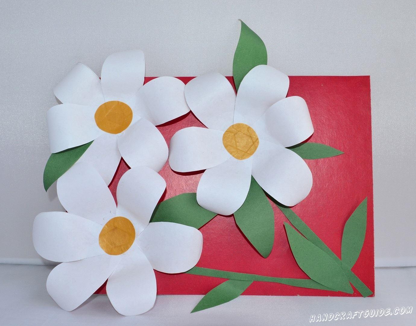 цветы из бумаги подарок своими руками