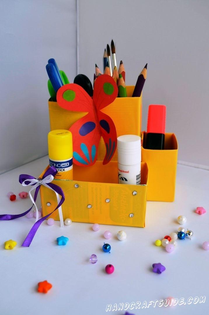 органайзер для детей своими руками