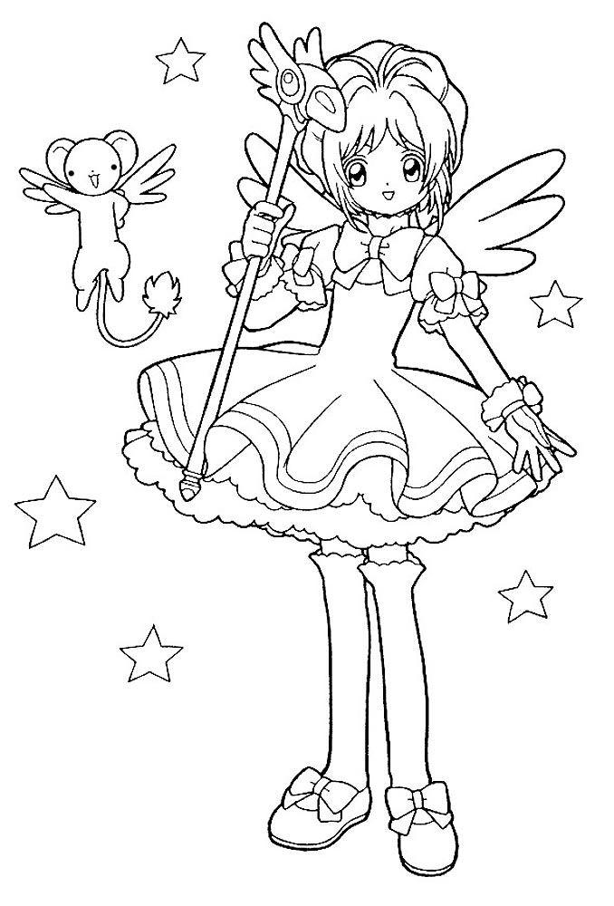 милые раскраски аниме