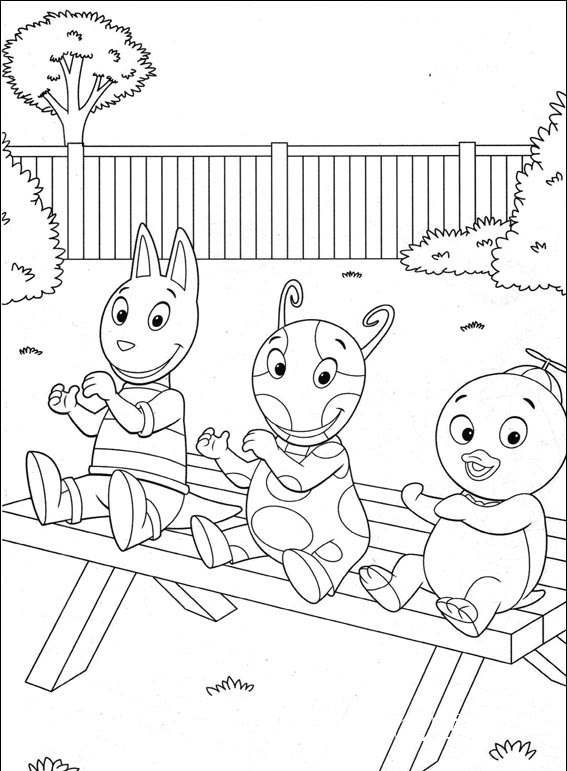 Free Backyardigans Coloring Pages On Coloring Book, Proficiency ... | 771x567