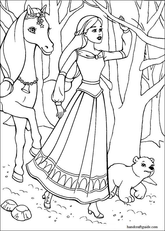 Barbie Magic Pegasus Coloring Pages Cartoons For 5 Years Kids Handcraftguide