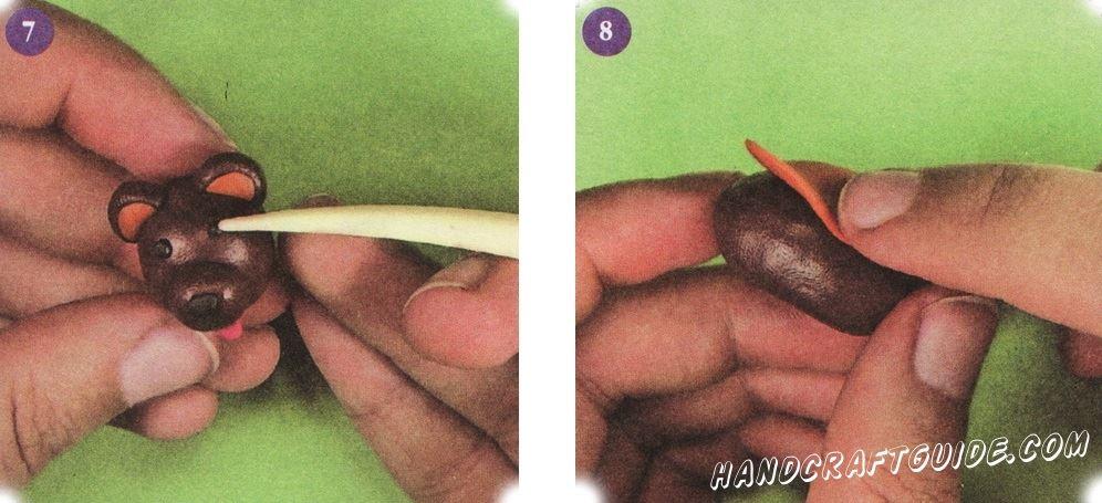 как слепить мишку из пластилина