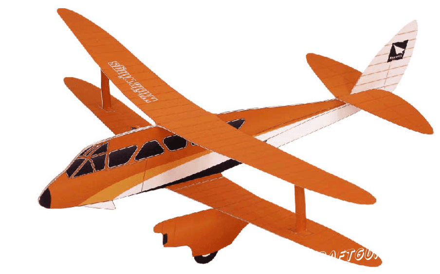 Биплан: схема (оранжевый цвет)