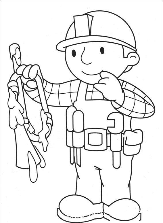 Распечатай и раскрась весёлые истории с Бобом-строителем как твоей фантазии угодно!