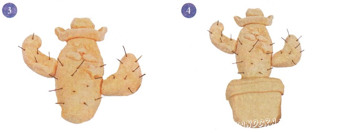 Шериф - кактус из соленого теста своими руками