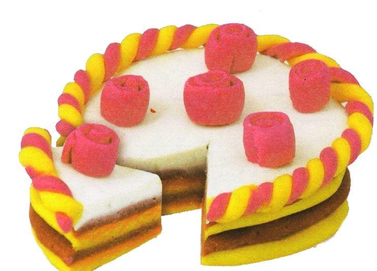 Торт своими руками, но не из продуктов, а из пластилина или солёного теста,  мы сделаем прямо сейчас