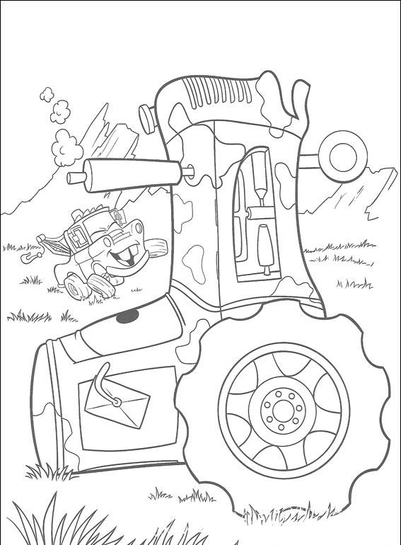 Молния Маккуин и его друзья в третьей подборке раскрасок, специально для вас!