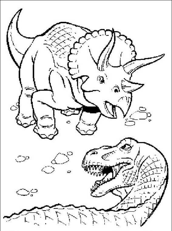 раскраски динозавры для малышей