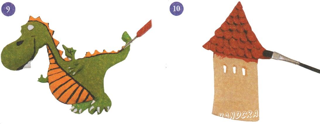 как сделать из соленого теста дракона на 23-е февраля