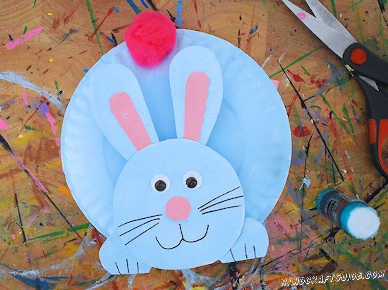 поделка кролик из бумажных тарелок