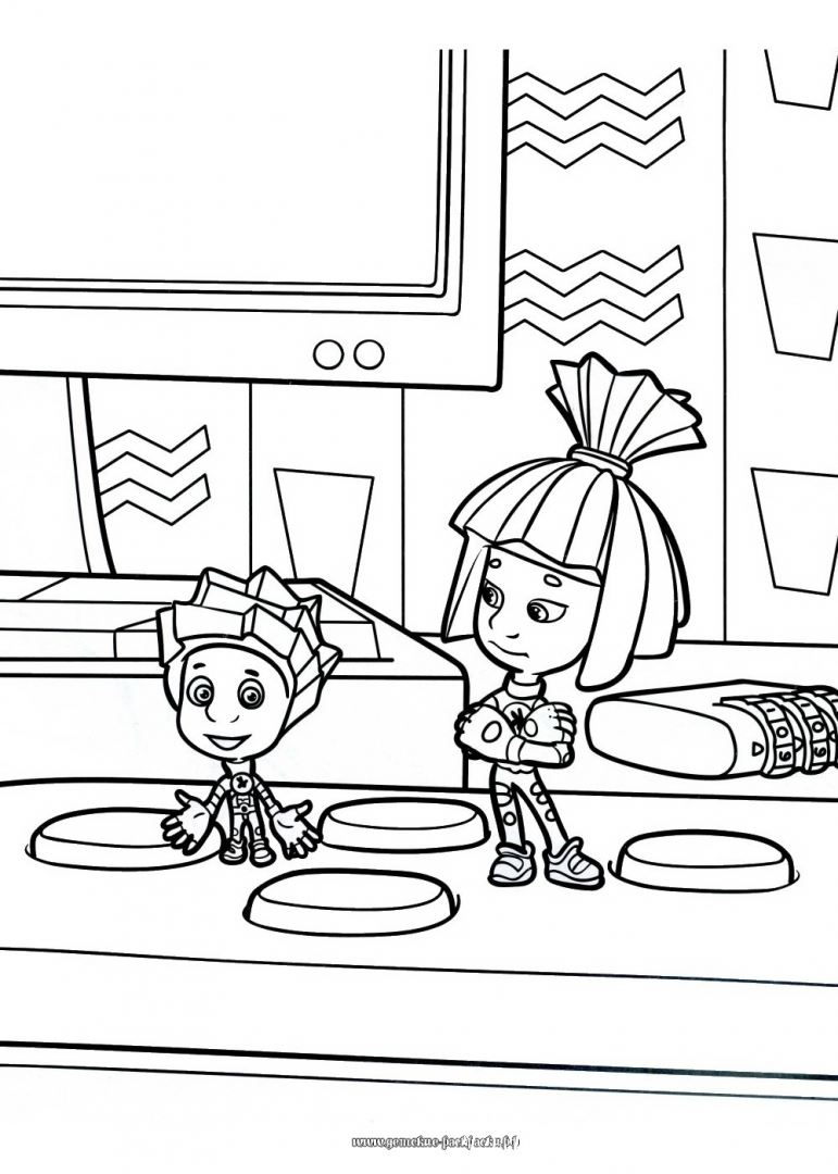 Fixiki Coloring Pages Cartoons For 3 Years Kids