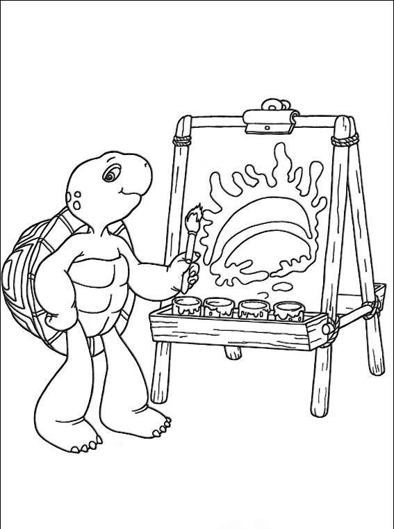 Франклин - это детский анимированный познавательный сериал про семью черепашки. Давайте украсим эту подборку раскрасок яркими красками.
