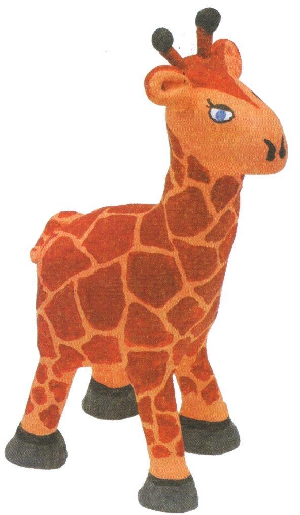 Жираф из слоеного теста
