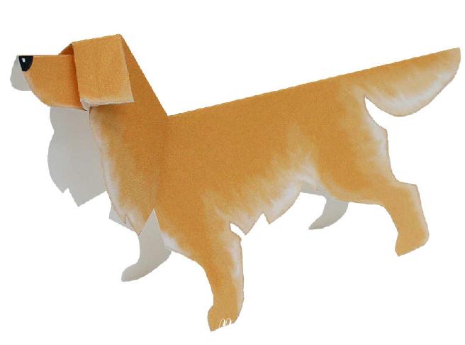Изучаем породы собак, с помощью поделок. Встречайте золотого ретривера из бумаги, сделанного своими руками. Качай вложенный файл, делай поделку и рассмотри поближе эту замечательную собачку.