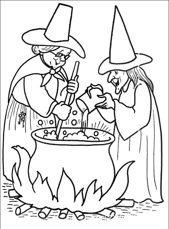 раскраска хэллоуин для детей 5 лет