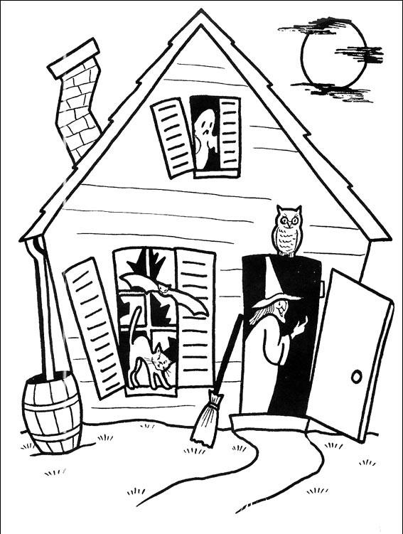 раскраски к празднику  хэллоуин