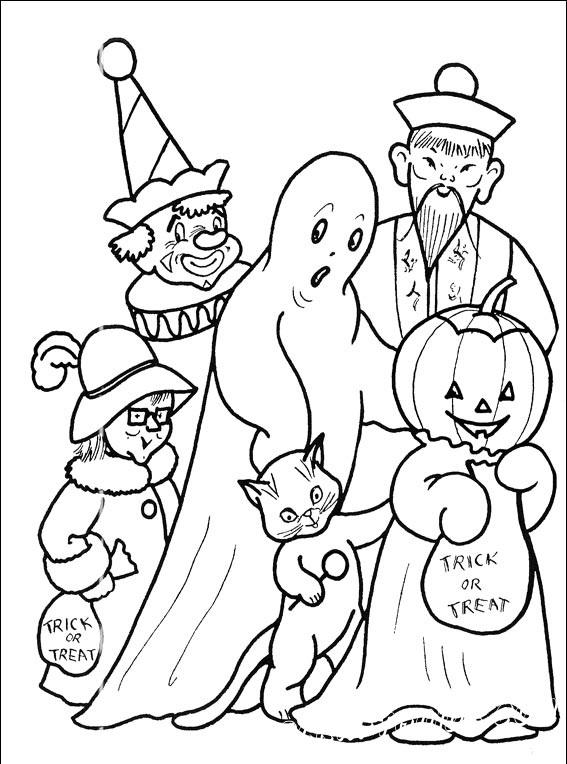 раскраска хэллоуин скачать