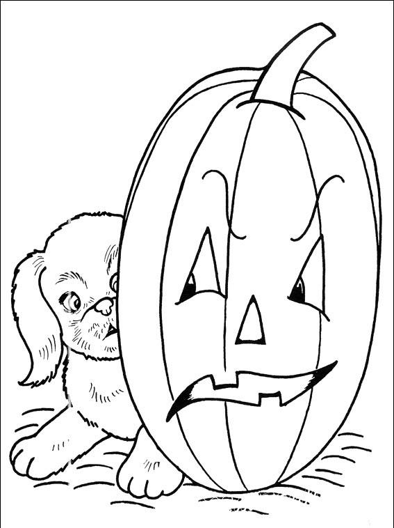 раскраска хэллоуин для детей 4 лет