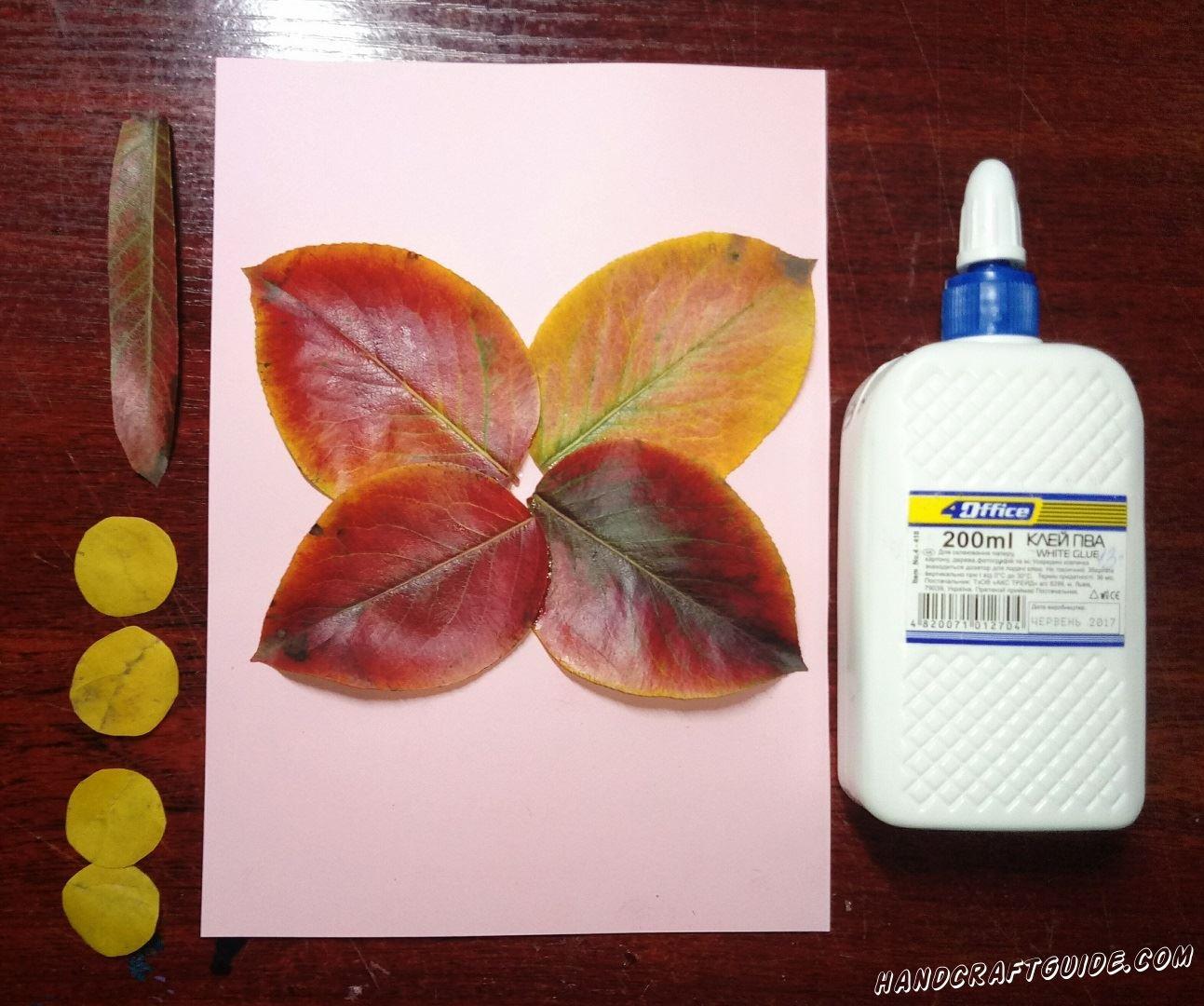 бабочка из осенних листьев своими руками