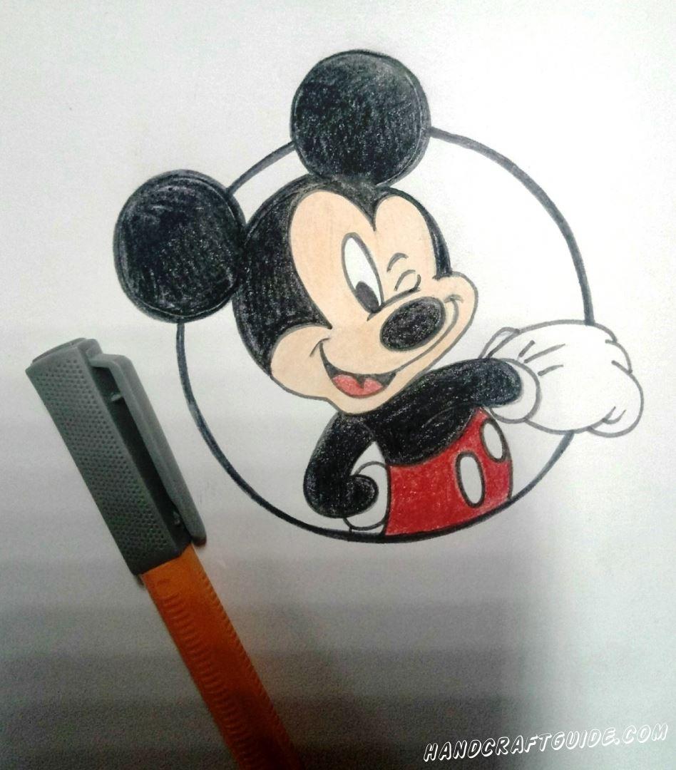 рисунок микки мауса карандашами