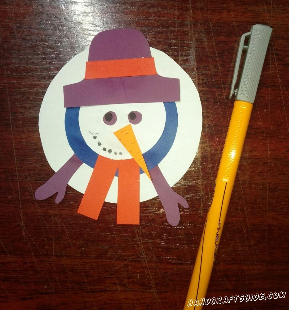 Разрисовываем нашего снеговика