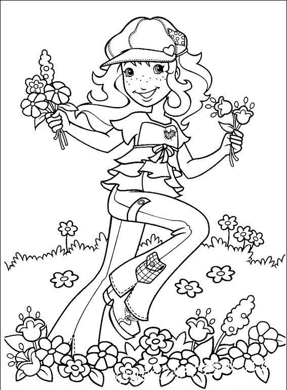 Персонаж известного иллюстратора Холли Хобби, украшает нашу подборку разукрашек. Раскраски для девочек можно скачать прямо здесь и сейчас.