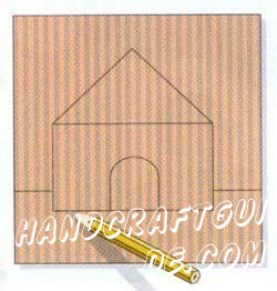 Cut the cardboard square with sides 16 cm. Do not make a very large square, as it needs too much grain.