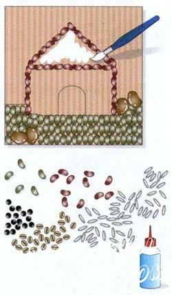 При нанесении клея используйте кисточку, дабы не пропустить маленькие части или уголки картины.