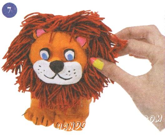 лев своими руками из теста