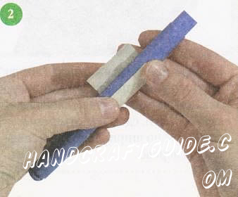поделка из цветной бумаги