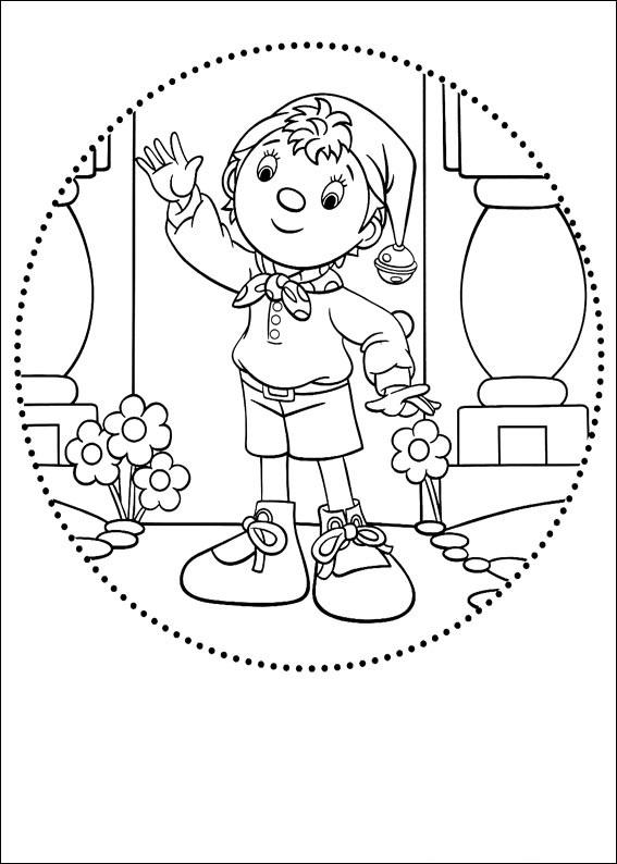 Нодди, снова нашедший приключений в стране игрушек, в нашей подборке раскрасок, для самых маленьких читателей.
