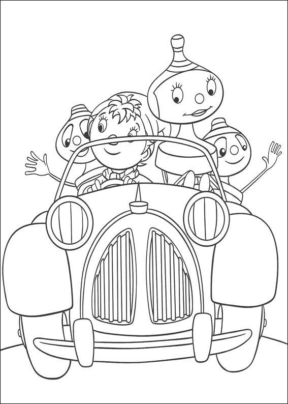 """Один из любимых детских телешоу наших самых маленьких персонажей - """"Дорогу Нодди"""", в данной подборке раскрасок, специально для детишек дошкольного возраста."""