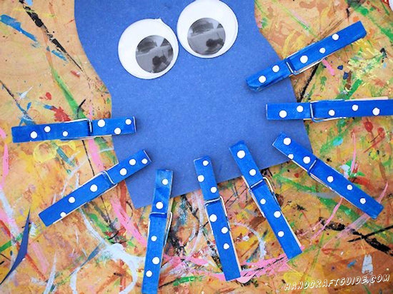 как сделать осьминога своими руками
