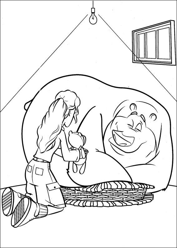 Домашний гризли сдружился с диким оленем, прямо в сезон охоты. Да - это сюжет любимого нами мультфильма, по которому мы сделали крутую подборку раскрасок!