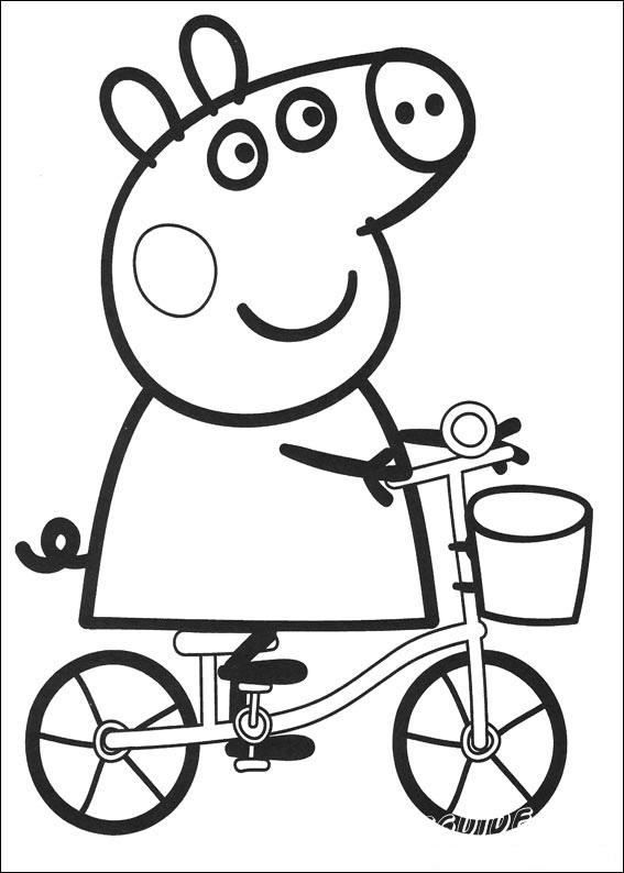 раскраски для малышей свинка пеппа