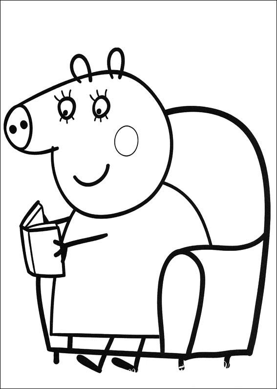 раскраски свинка пеппа распечатать