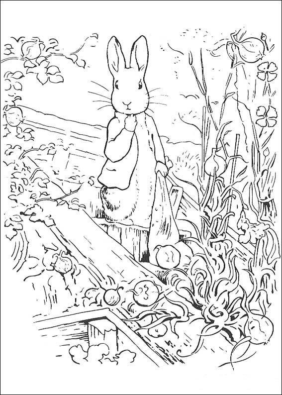 Кролик, одевающийся и ведущий себя как настоящий человек, снова стал героем наших раскрасок.