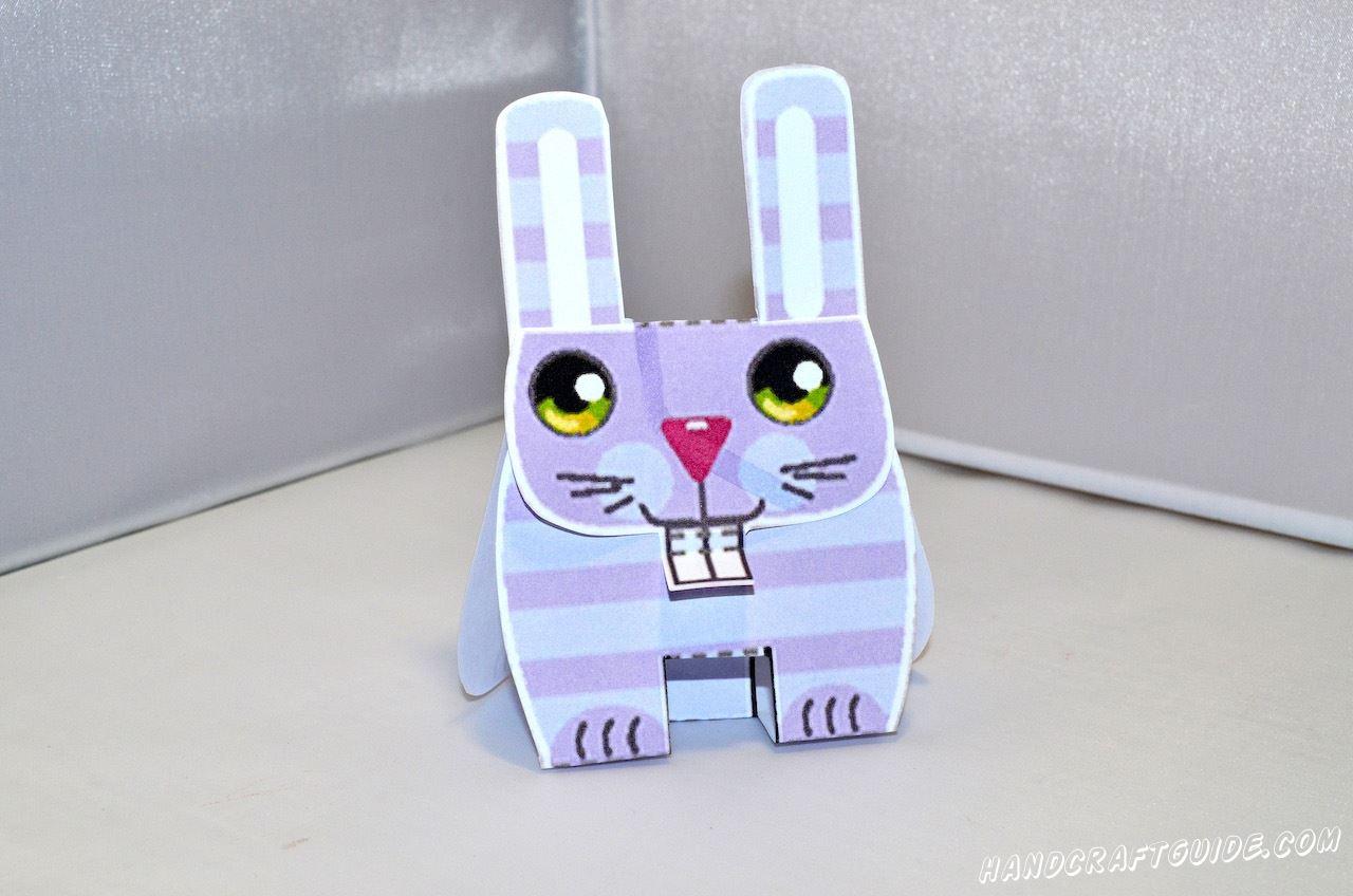 поделка кролик паперкрафт