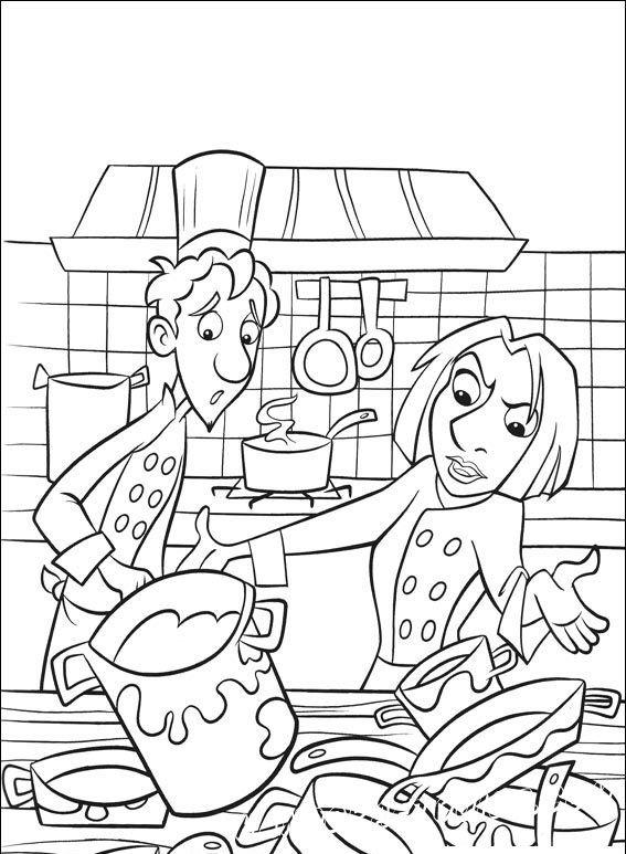 Третья часть раскрасок про маленького мышонка, отличного повара и друга - Рататуя. Давайте вспомним и раскрасим лучшие эпизоды этого мультфильма.