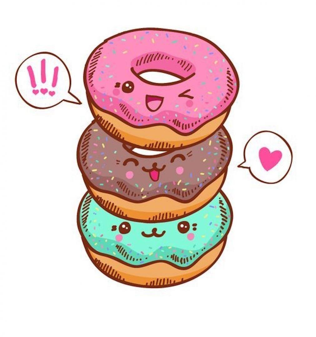 рисунки пончики для начинающих