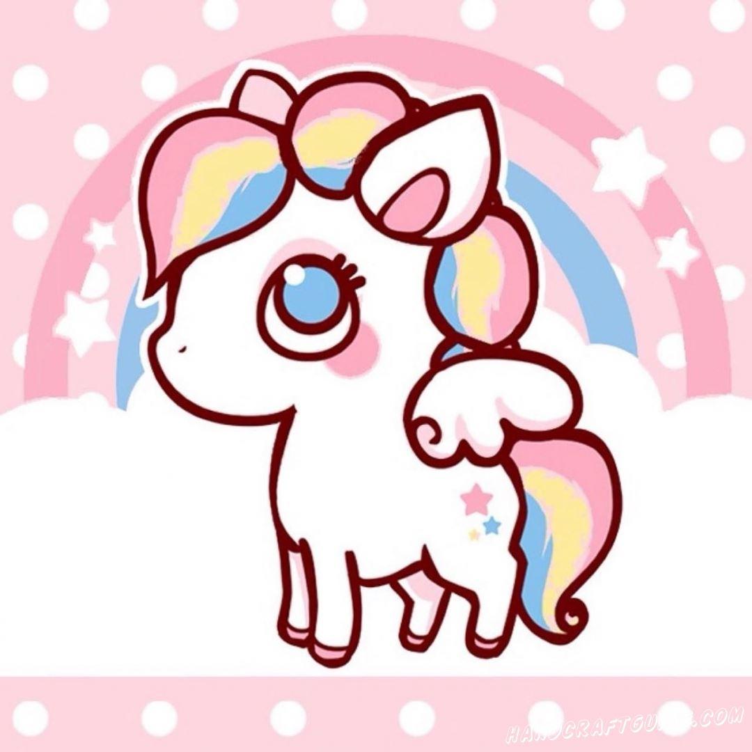 Милая картинка пони для срисовки
