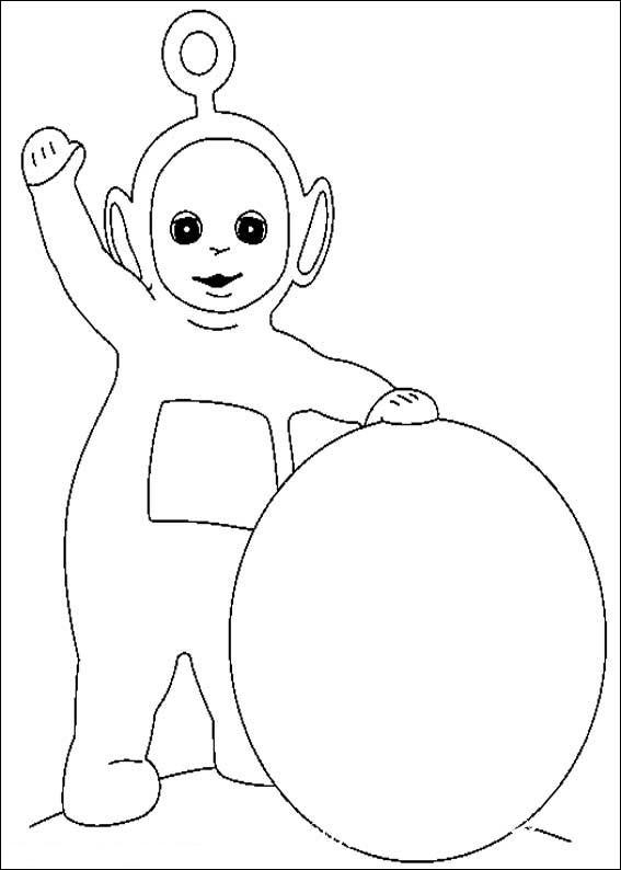 раскраски для малышей телепузики