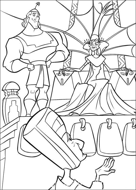 Раскраски из мультфильмов - самое популярное занятие для детей. Эта подборка раскрасок посвящена мультфильму «Похождения императора», осталось только скачать и распечатать.